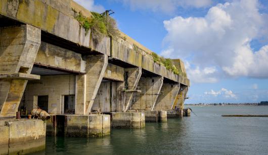 Lorient La Base - Vue sur les alvéoles du bloc K3 - Lorient