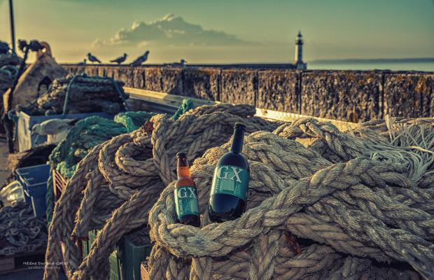 Île de Groix, bière sur le port de Port-Tudy
