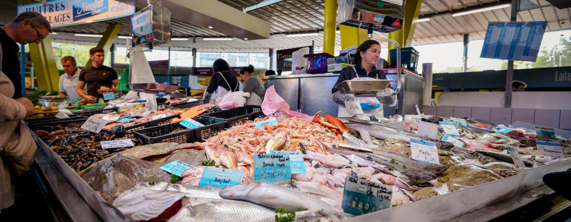 Lorient, marché aux poissons de Merville