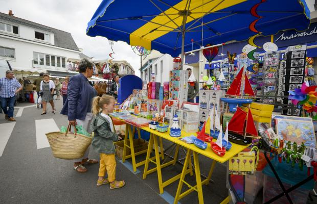 Le marché de Larmor-Plage, chaque dimanche matin.