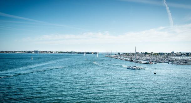 Port de kernevel vue de le mer, Larmor Plage