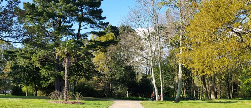 Le parc du Plessis à Lanester.