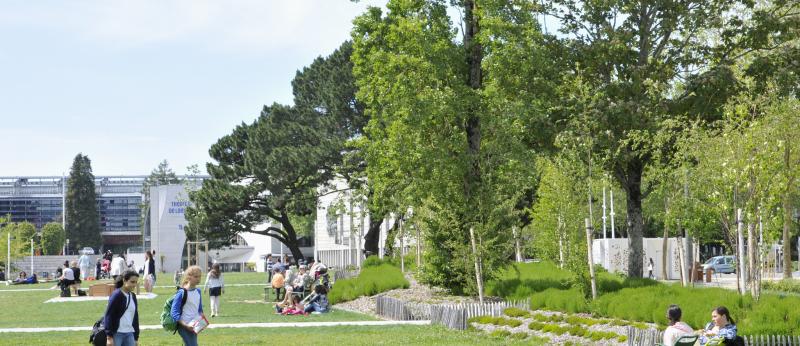Le Parc Jules Ferry dans le centre-ville de Lorient.