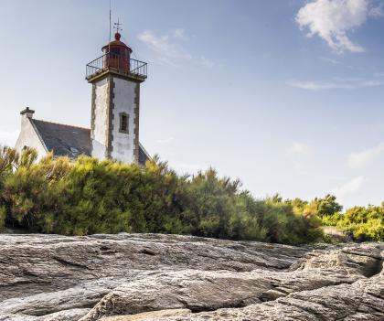 Phare de la Pointe des chats, à l'île de Groix.