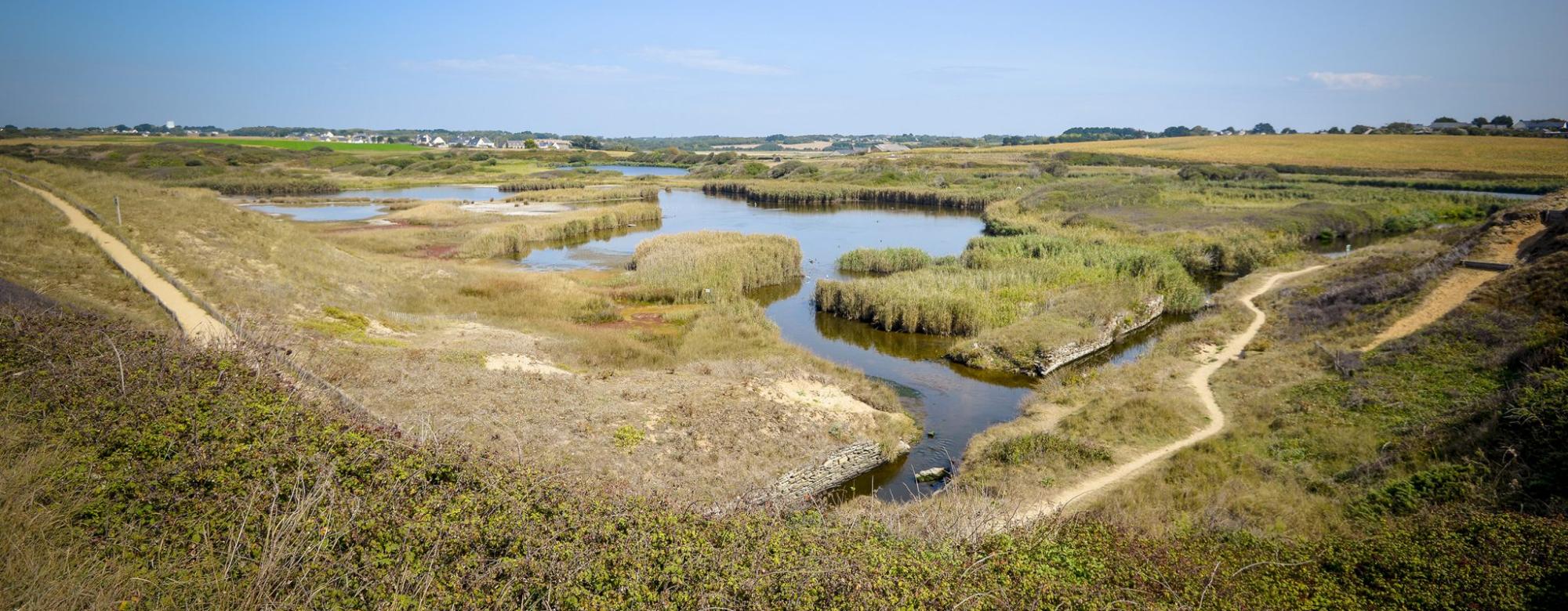 Guidel, les étangs du loch, réserve naturelle