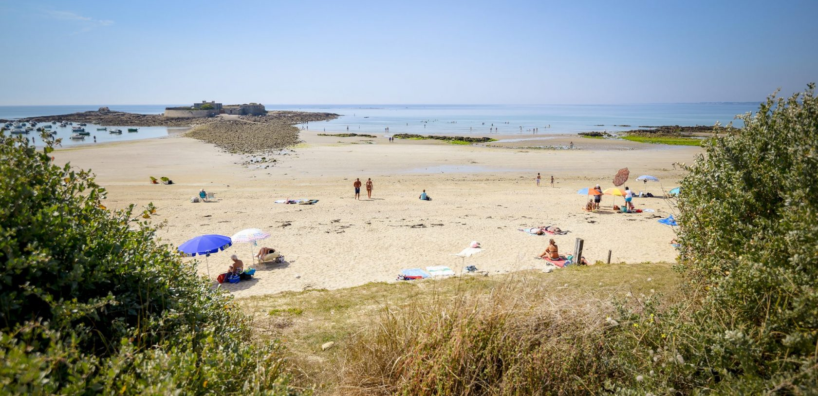 La plage du Fort-Bloqué à Guidel-Plages.