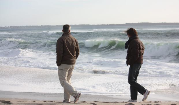 Lorient, promenade sur la plage des Kaolins