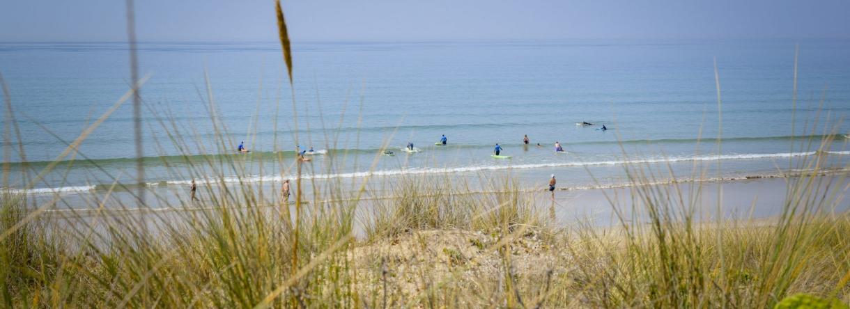 La plage du Loch à Guidel-Plages, très prisée des surfeurs.