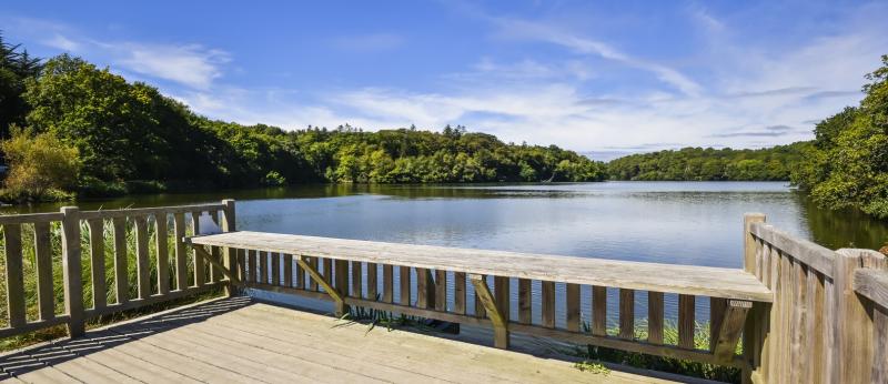 Terrase sur l'étang du Ter, Ploemeur