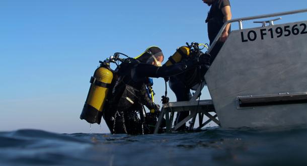 Plongeurs bouteille île de Groix