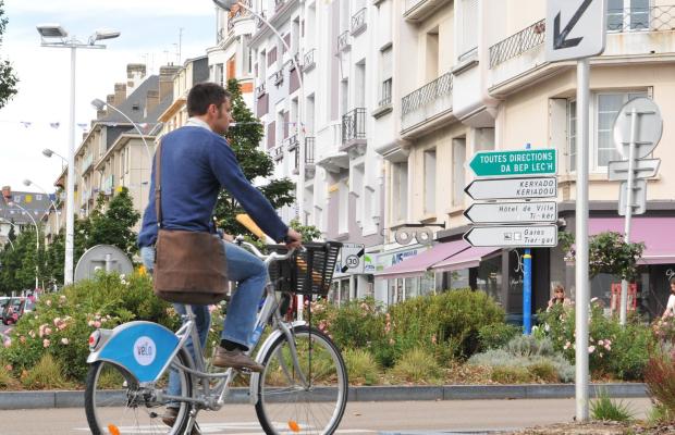Vélo au centre ville, Lorient