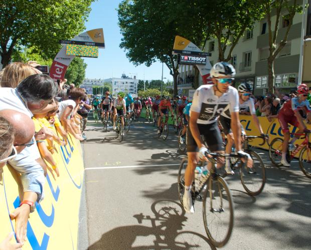 Départ de la 5eme étape du Tour de France 2018