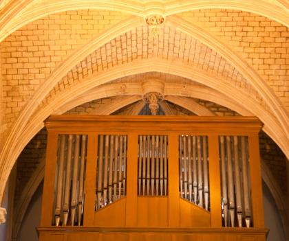 Lorient, l'orgue de l'église de Notre-dame-de-bonne-nouvelle dans le quartier de Kerentrech.