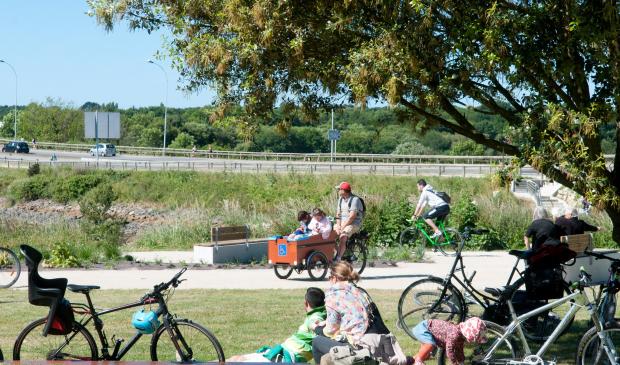 Balade à vélo, famille, Lorient, Bretagne