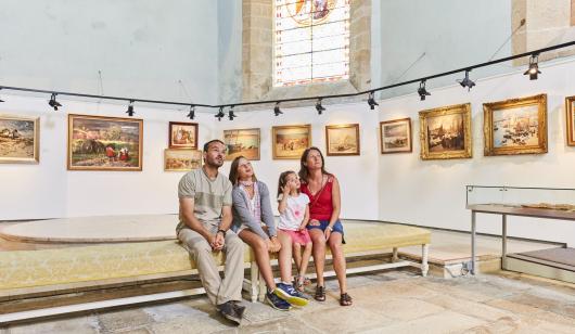 Visite du musée au Faouët.