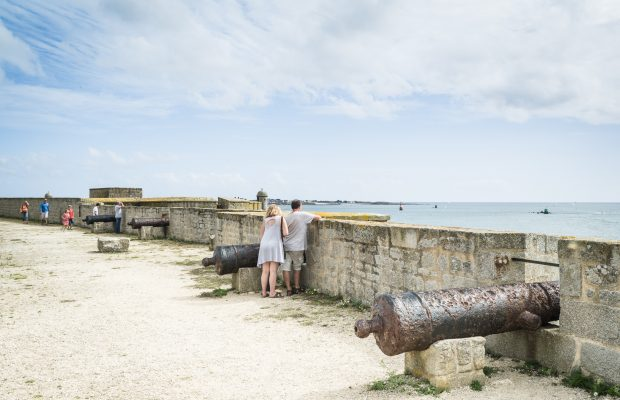 Canons sur les remparts de la citadelle de Port-Louis