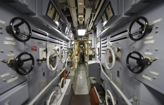 """Intérieur du sous-marin """"La Flore"""" à la Base de sous-marin de Lorient"""
