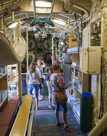 Visite à l'intérieur du Sous-Marin Flore à Lorient la Base